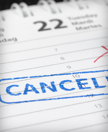 Cancelled Calendar