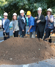 East Alley Improvement Project Ground Breaking